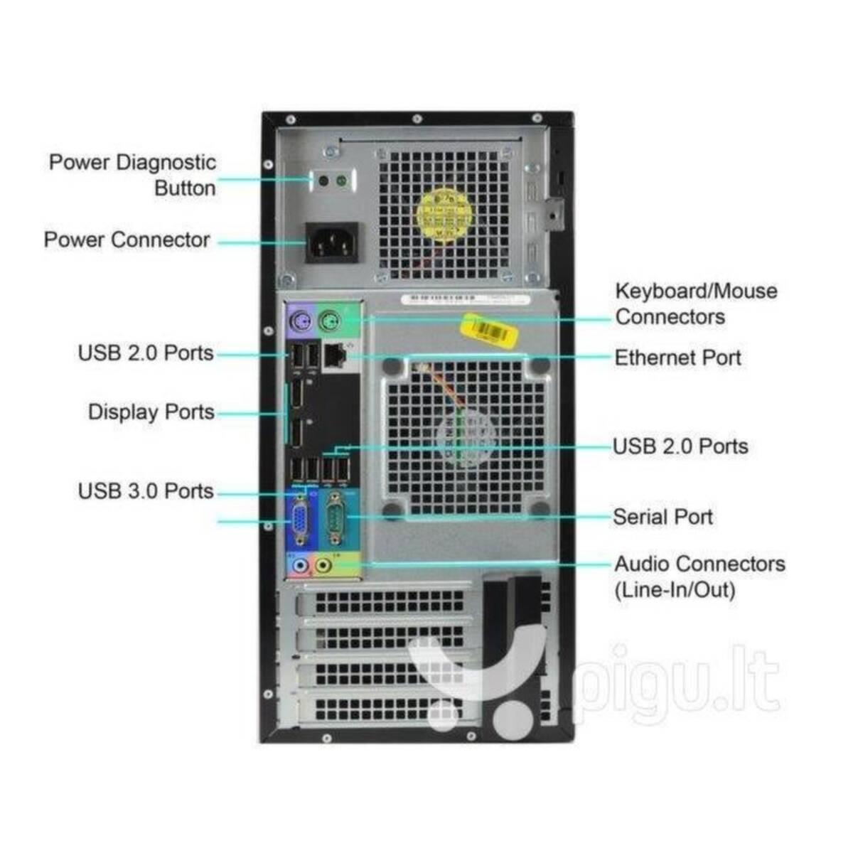 Dell Optiplex 7010 I5 3550 RAM 4GB SSD 128GB + HDD 500GB